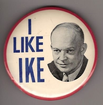 Ike Campaign Button