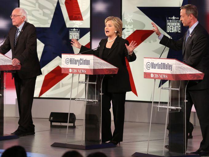Dem debate pic