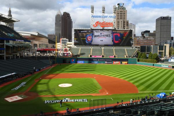 37ed6d11ada With the Cleveland Indians and Chicago Cubs splitting the first two games  of the 112th World Series at Progressive Field in Cleveland