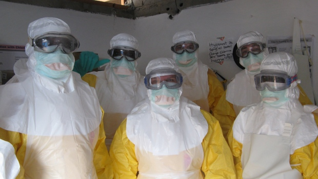 Staff And Healthcare Workers For Doctors Without Borders Wear Ebola Protection Equipment In Liberia Photo Credit AP MSF
