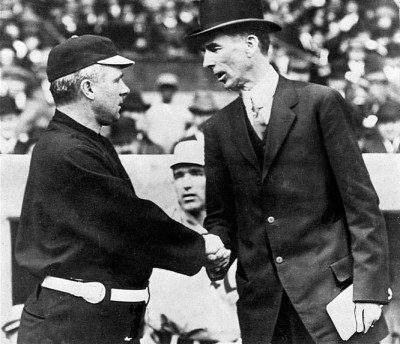 d164db835409e New York Giants manager John McGraw (on left) and Philadelphia Athletics  manager Connie Mack