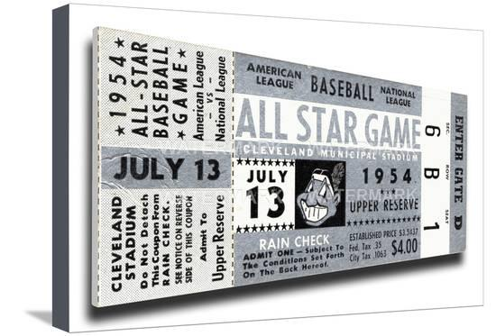 06b711c6e44 1954  The MLB All-Star Game Returns to Cleveland · All star ticket