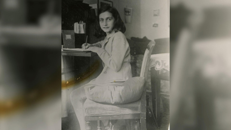 Anne frank writing